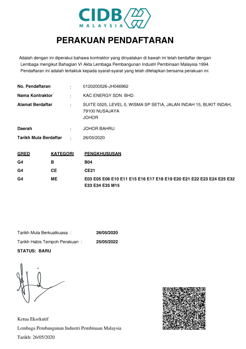 CIDB Registered